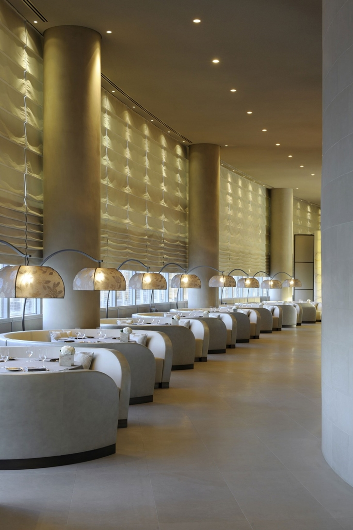 Dining tables in Armani Burj Khalifa Hotel Dubai