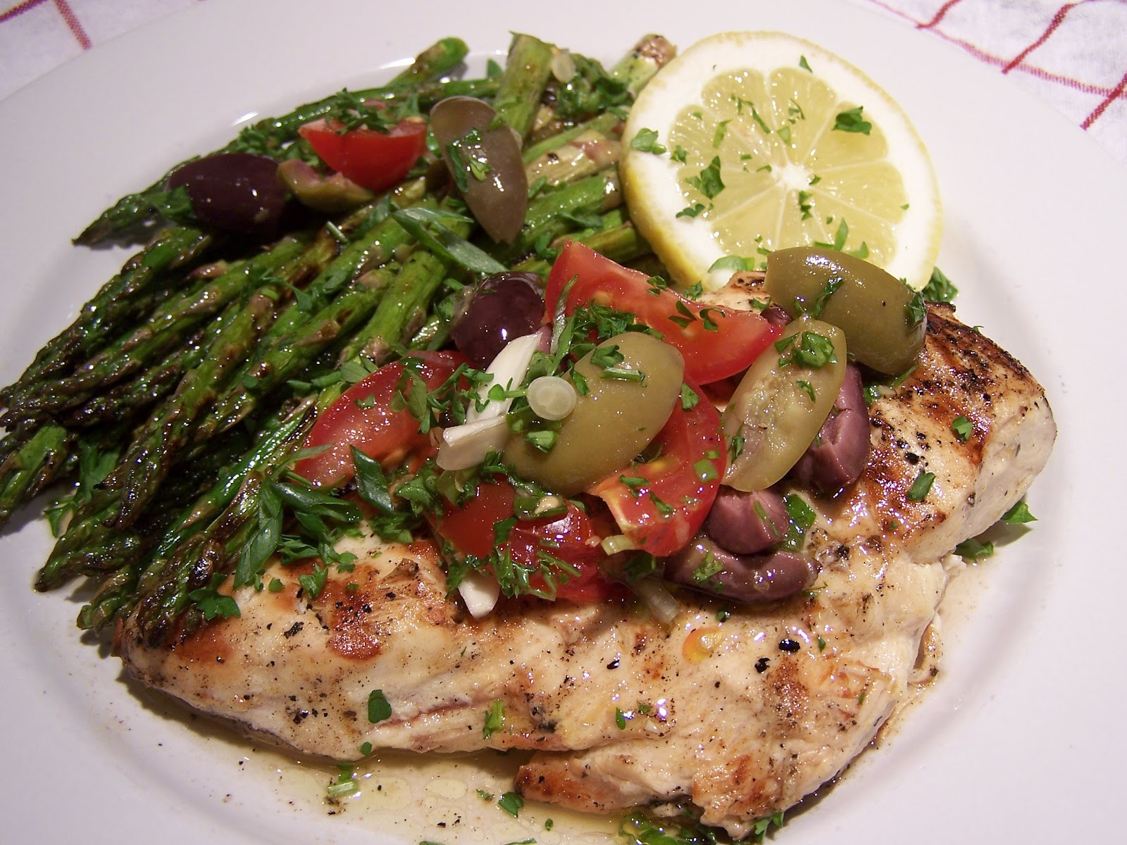 Go Ahead... Take A Bite!: Grilled Chicken and Asparagus Provencal