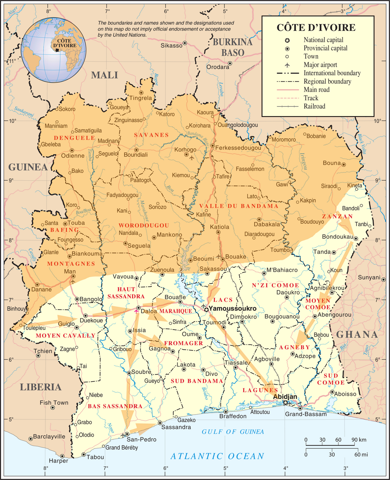 geography ivory coast Ap human geography chapter 10 wells chapter 10 test study play gabon and the ivory coast both benefitted from exports, they both rely on forestry.