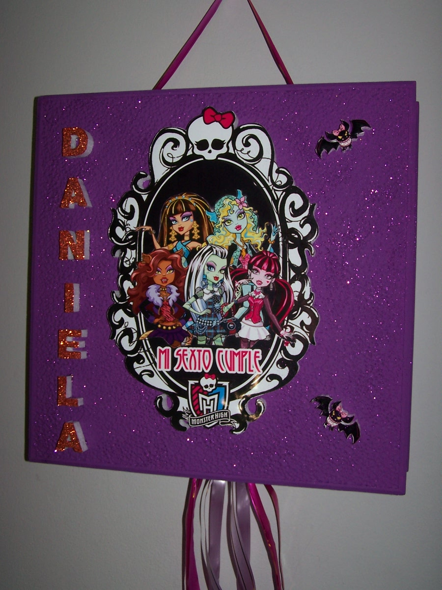 Pi  Ata De Monster High Personalizada