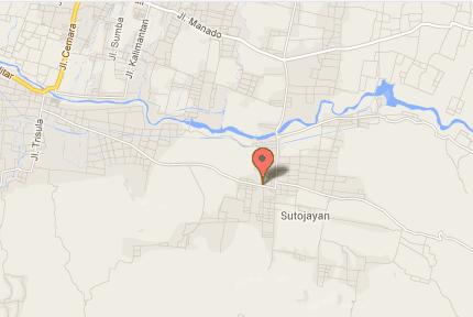 Peta SMP Negeri 1 Sutojayan