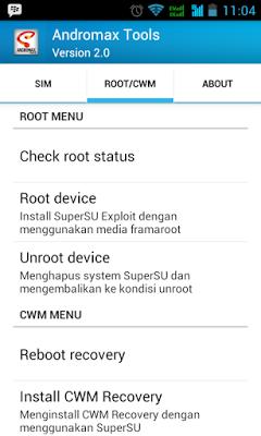 Cara Root Smartfren Andromax G1