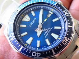 SEIKO SAMURAI SUNBURST BLUE LAGOON DIAL - SEIKO SRPB09J1 - AUTOMATIC 4R35-LIMITED EDITION-BRAND NEW