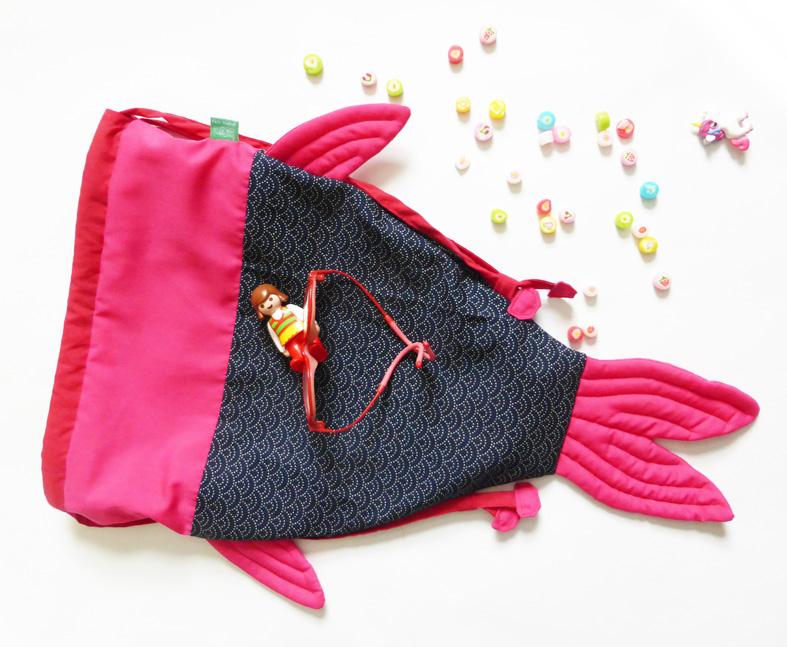 Mushyp koi carp fish shaped drawstring bag for Koi fish purse