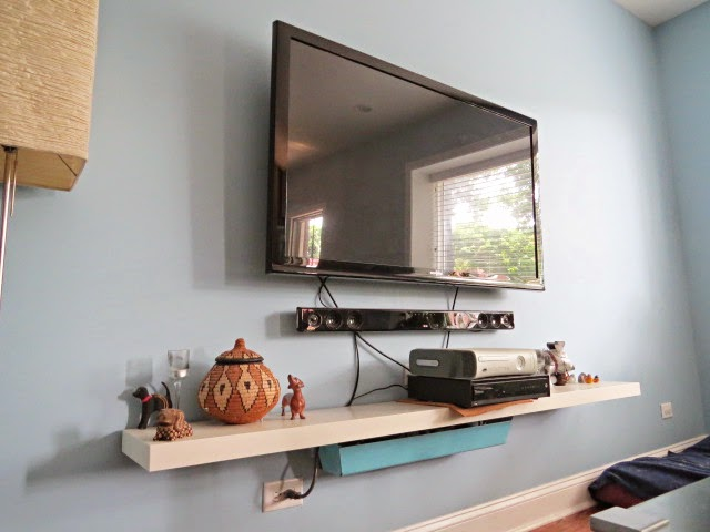 how to hide your television and cable wires an easy diy flipping the flip. Black Bedroom Furniture Sets. Home Design Ideas