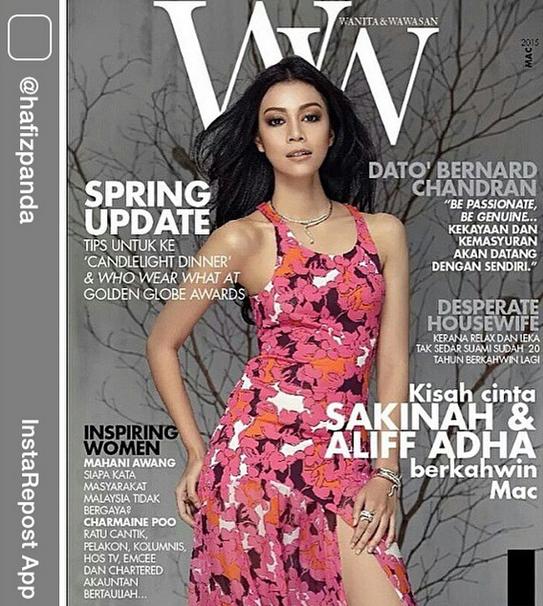 PANAS Sharifah Sakinah Tampil Seksi Dalam Majalah WWMAGAZINE