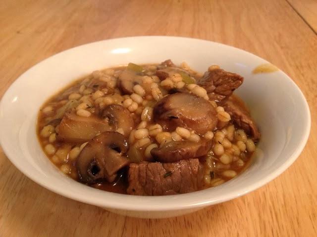 ... stew with mushrooms beef and barley stew beef barley mushroom stew in
