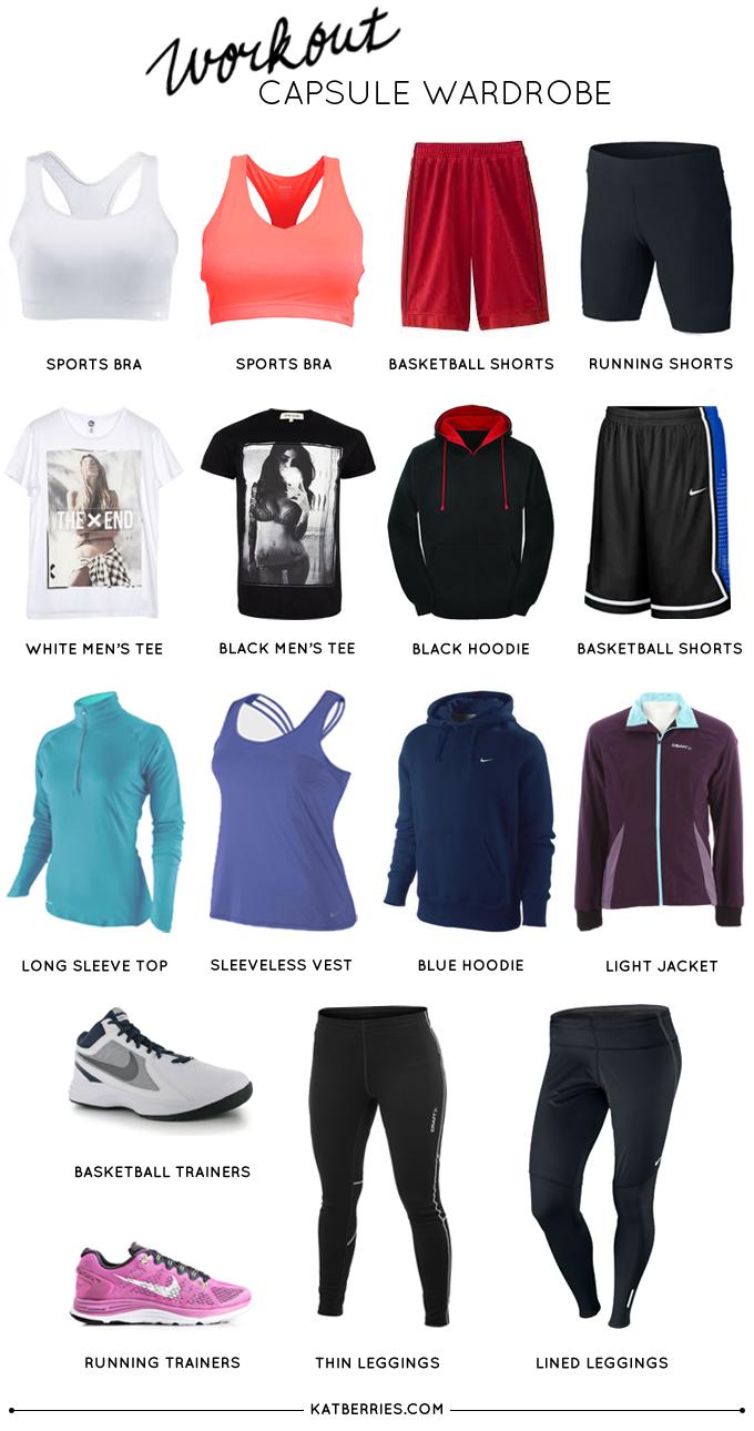 Minimal workout closet