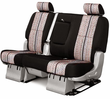 saddle blanket seat covers row black