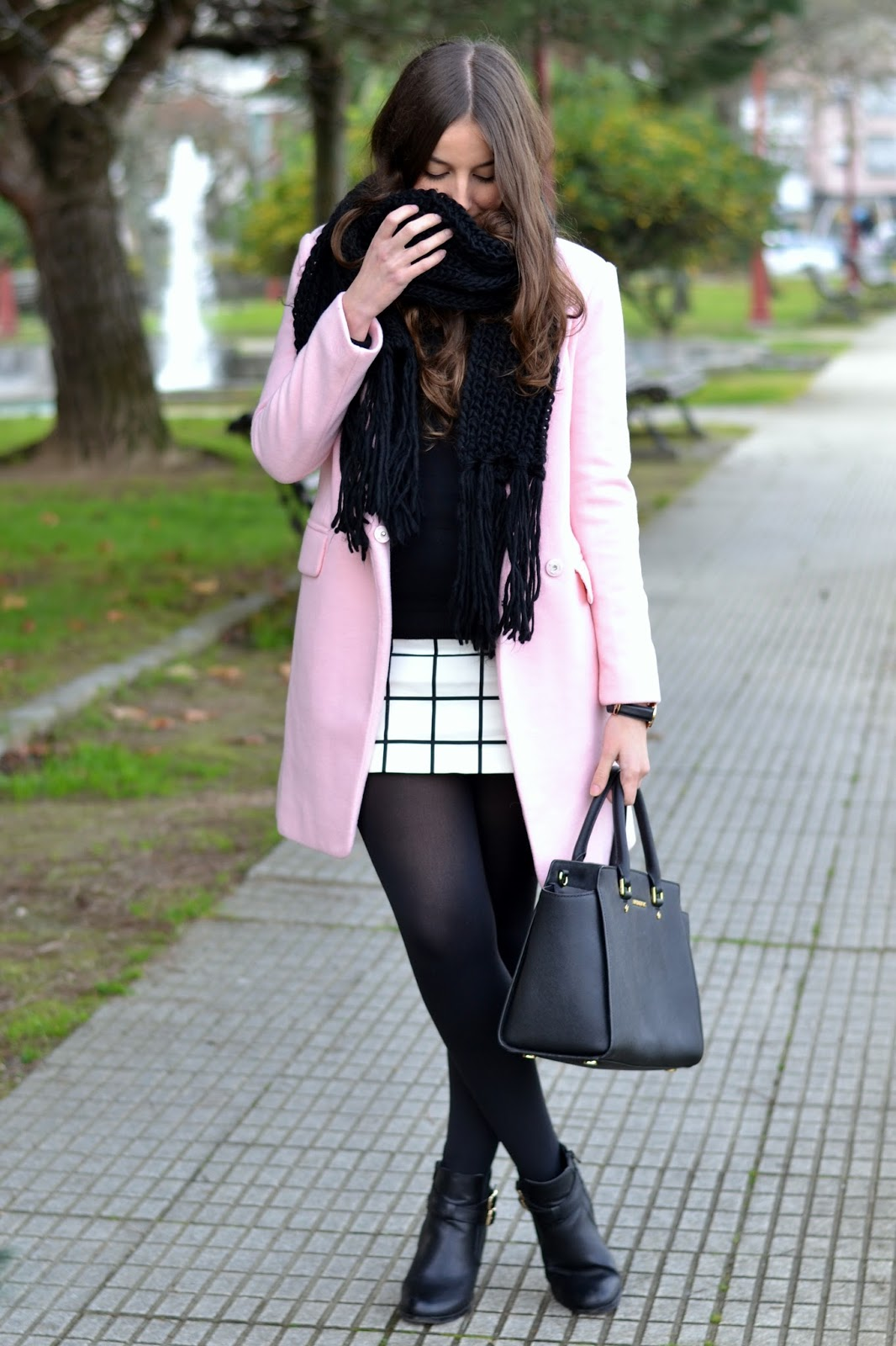 pink coat choies