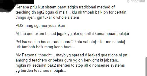 Punca Guru Bocorkan Soalan UPSR, soalan upsr bocor, upsr bocor lagi, murid terpaksa ulang ambil upsr, murid bosan upsr kena ulang, cikgu bocorkan soalan upsr,