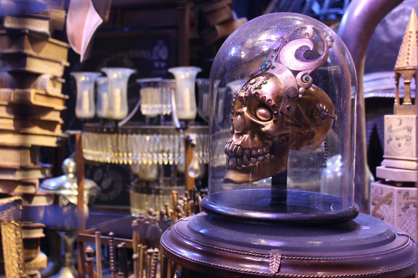 Harry Potter studio tour london potions classroom and skull