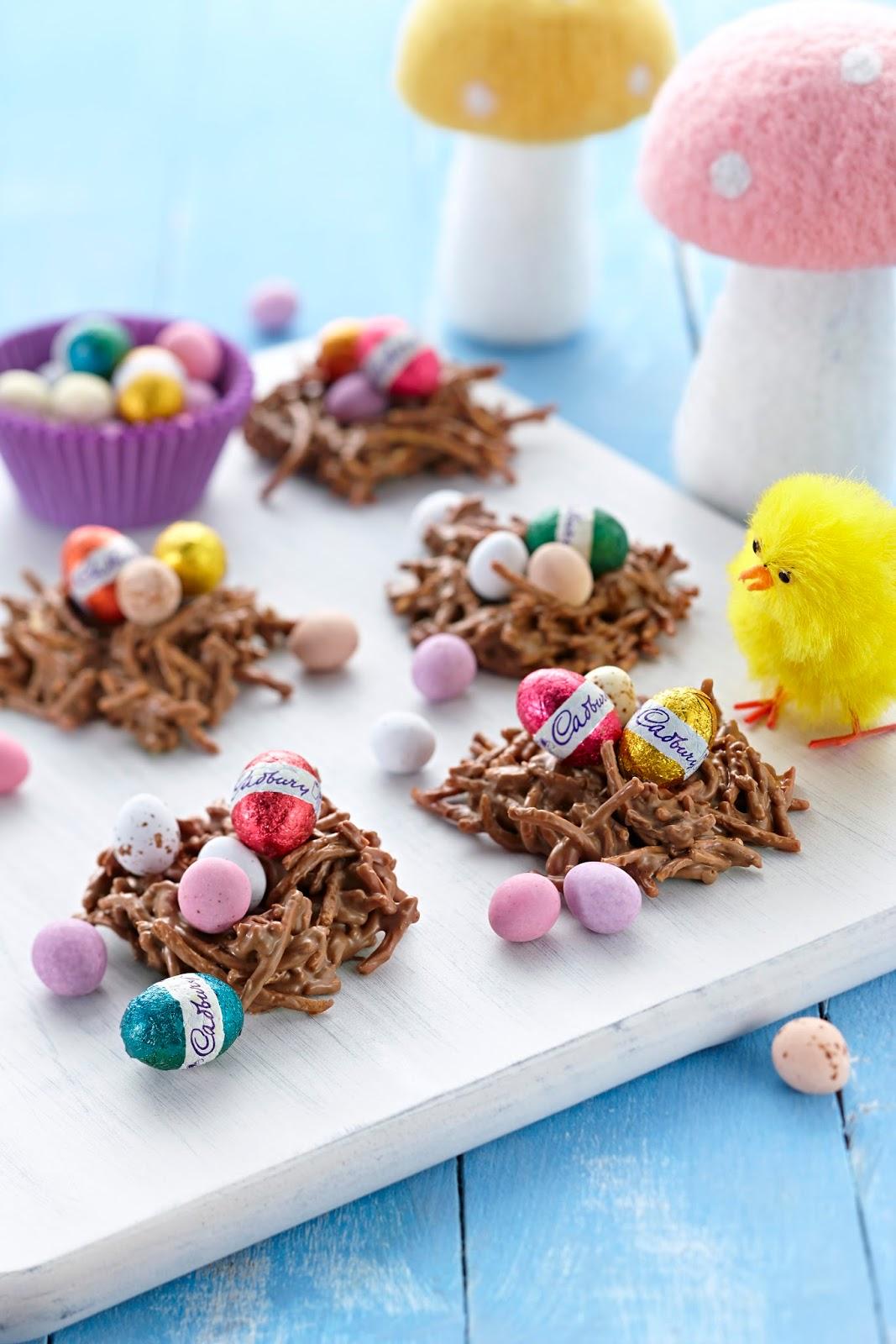 cadbury, chocolate, easter, eggs, recipe, egg nests, crunchy, milk