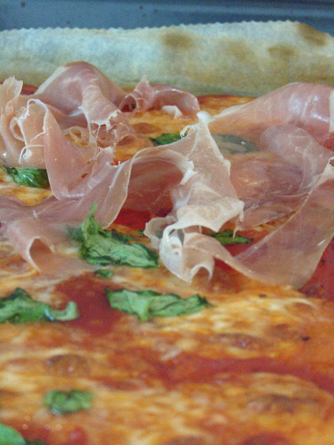 #BakeWithMe pizza base topped with parma ham