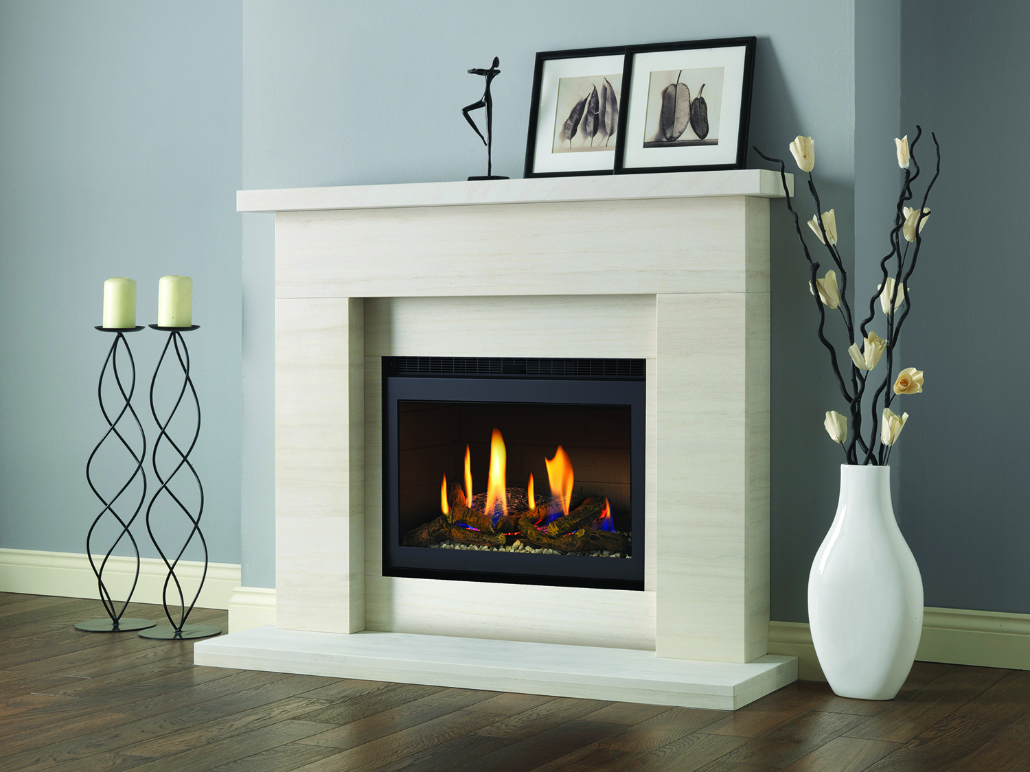 Modern Electric Fire Suites Part - 23: The Pureglow Drayton And Chelsea High Efficiency Gas Fireplace Suite Is A  Complete Fireplace Package That Combines The Modern Pureglow Drayton  Natural ...