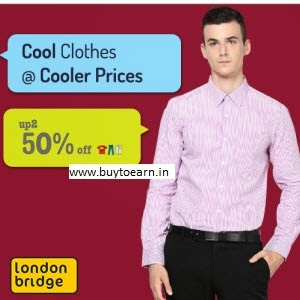 Amazon : Buy London Bridge Men's Clothing 50% off + 30% off from Rs. 245 only