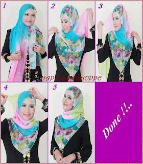 hijab modren untuk wajah bulat