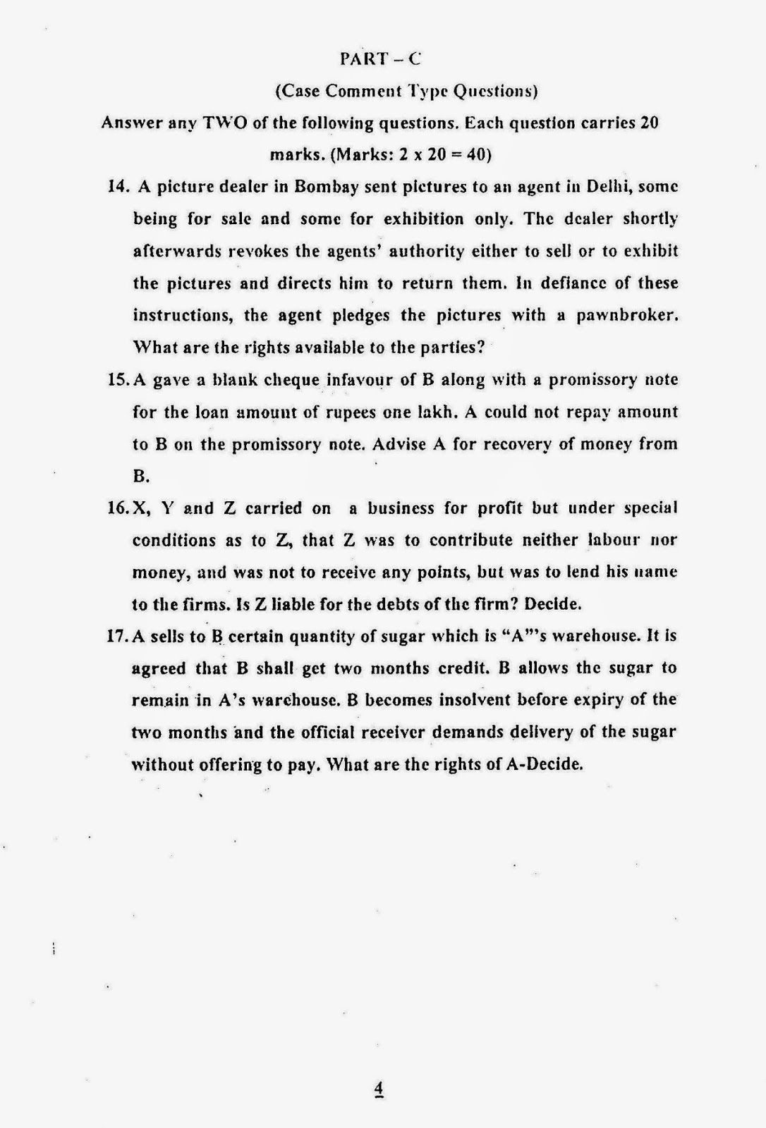 answer contract essay law question This free law essay on contract law - problem question example is perfect for law students to use as an example.