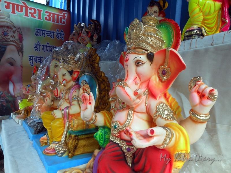 Ganesha idols in a artesan shop, Ganesh Chaturthi Festival, Mumbai