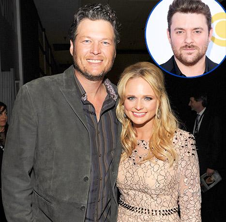 Chatter busy country singer chris young denies breaking for Miranda lambert blake shelton break up