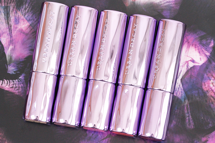Urban Decay Sheer Revolution Lipsticks + Lipswatches