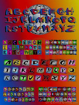 New Alphabet graffiti on 2012