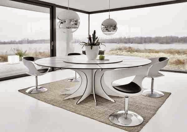 15 Charming black and white dining room designs and furniture in ...