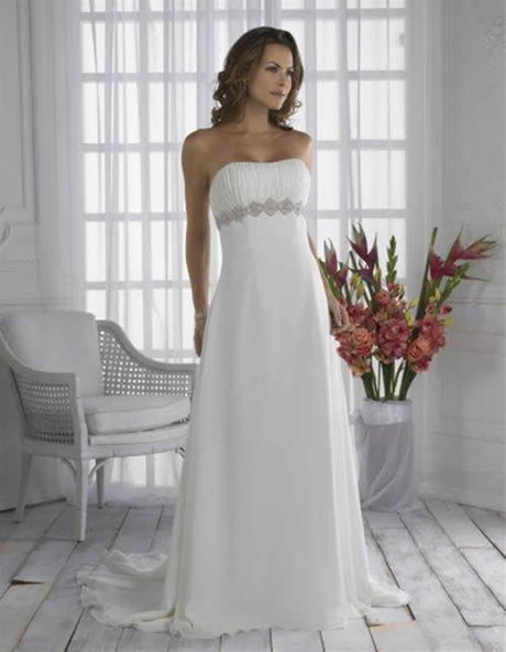 WhiteAzalea Maternity Dresses: White Chiffon Maternity Wedding Dress