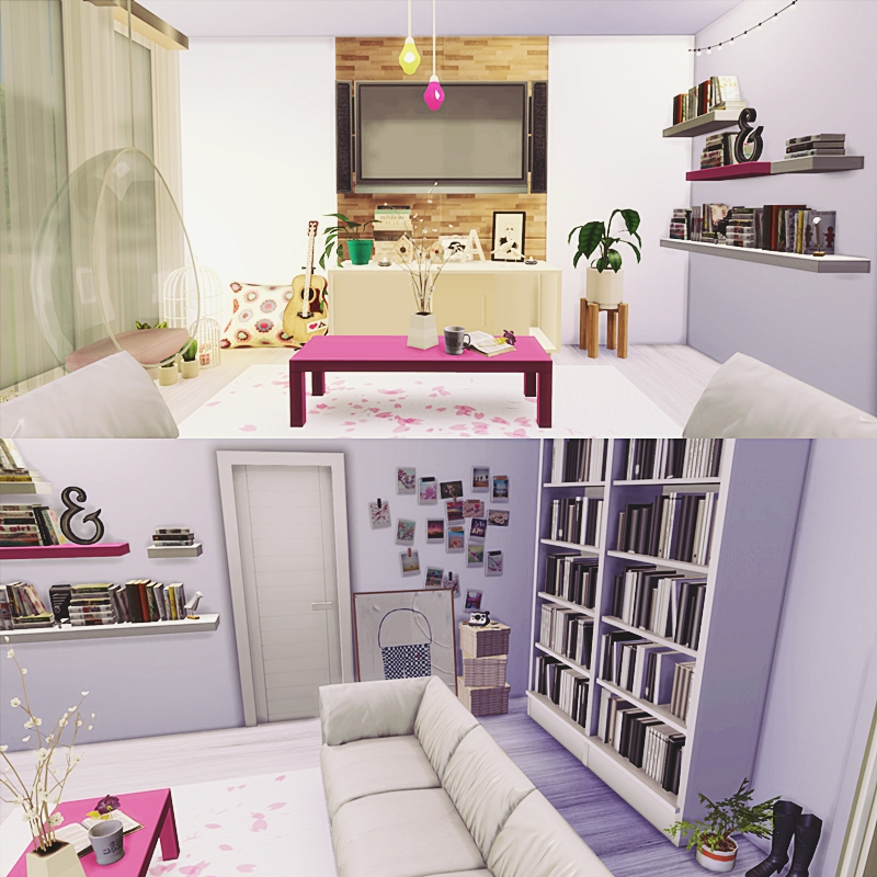 Cute Room Living Room: Mony Sims: Download (In The Video Description) The Cute