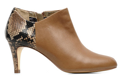 Ted Baker tan and snake effect shoe boots