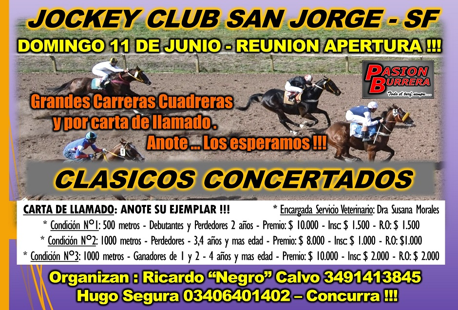 SAN JORGE - DOMINGO 11 JUNIO