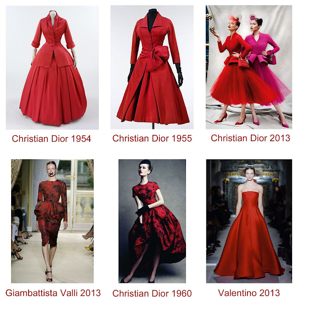 red, Dior, Valentino, Giambattista Valli, couture