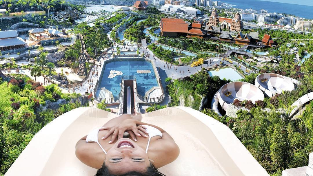 #4. Siam Waterpark in Tenerife, Canary Islands, Spain - The World's 25 Scariest Waterslides… I'm Surprised #6 Is Even Legal.