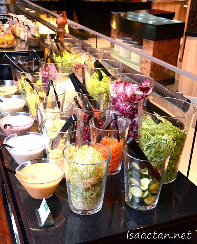 Make your own salad from their salad bar.