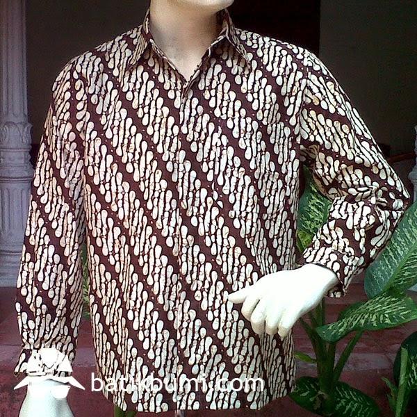 kemeja batik lengan panjang motif parang