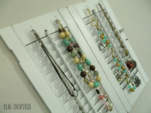 Jewelry Organizer from Old Shutters