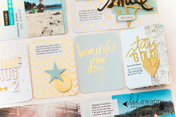 Heidi Swapp Gold Foil Project Life Value Kit @createoften @heidiswapp #heidiswapp #projectlife #hsprojectlife