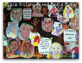 Little miss kindergarten lessons from the little red for Black history mural