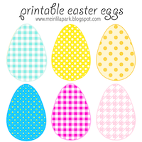 printable easter egg garland