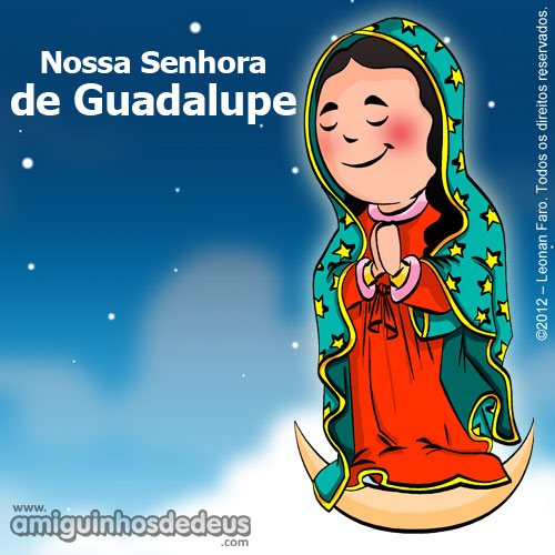 nossa senhora de Guadalupe desenho