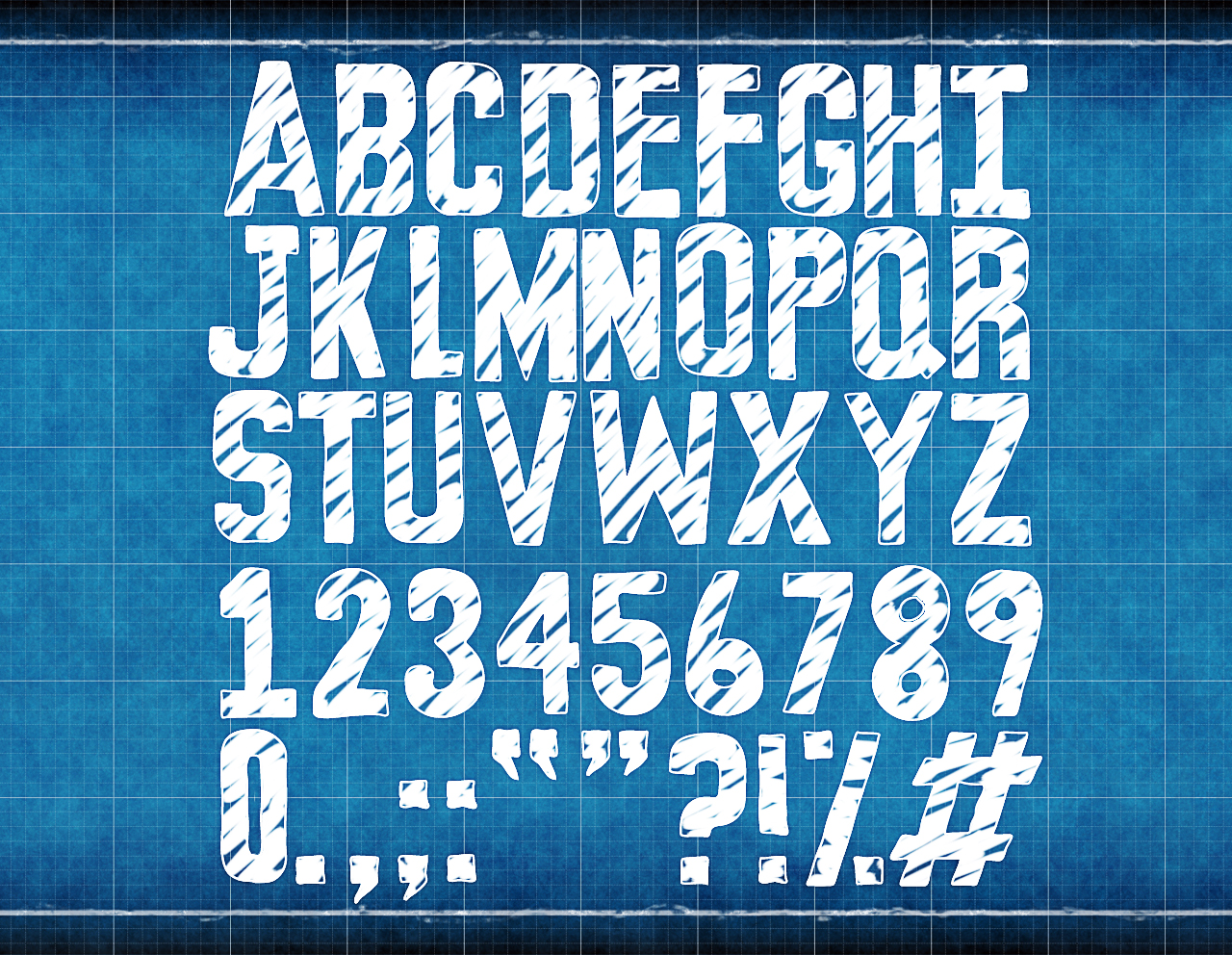 Blueprint font design jess paroz Blueprint designer free