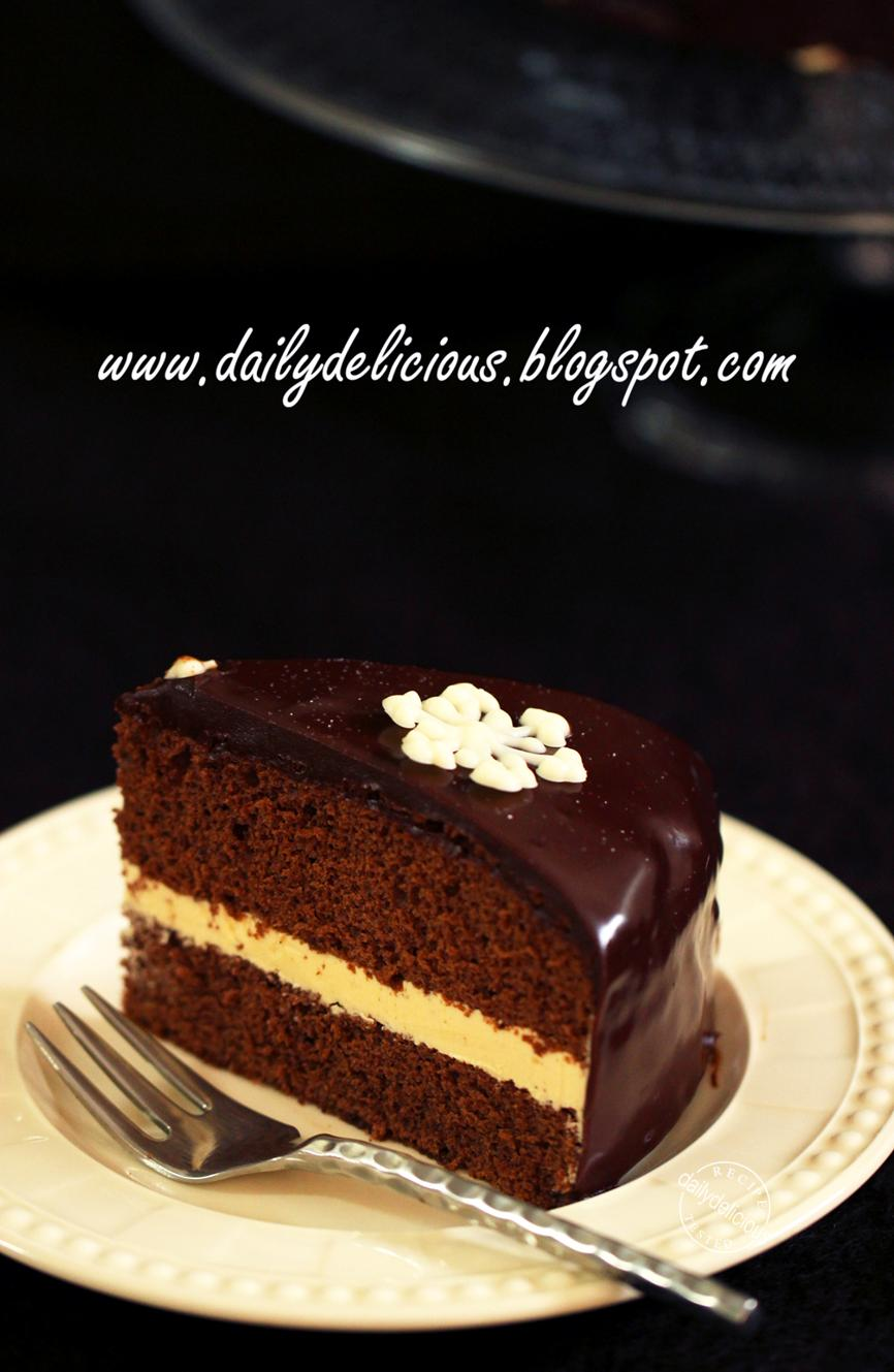 Dailydelicious Chocolate Chiffon Cake With Caramel
