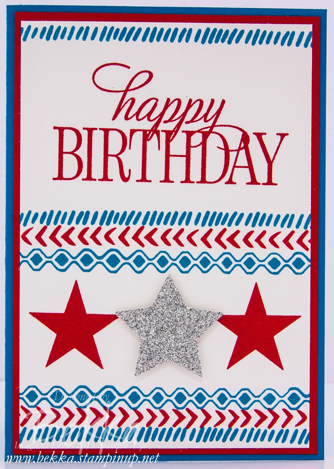Happy 4th July Birthday Card