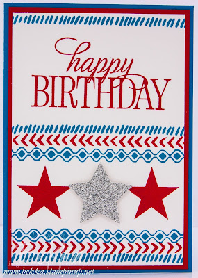 Happy 4th July / Birthday Card - check this blog for lots of great ideas