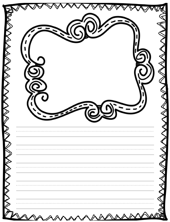 Fun For First Writing Paper Freebie Cute