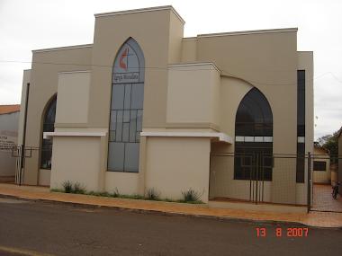 Fachada do Templo Metodista de Cândido Mota