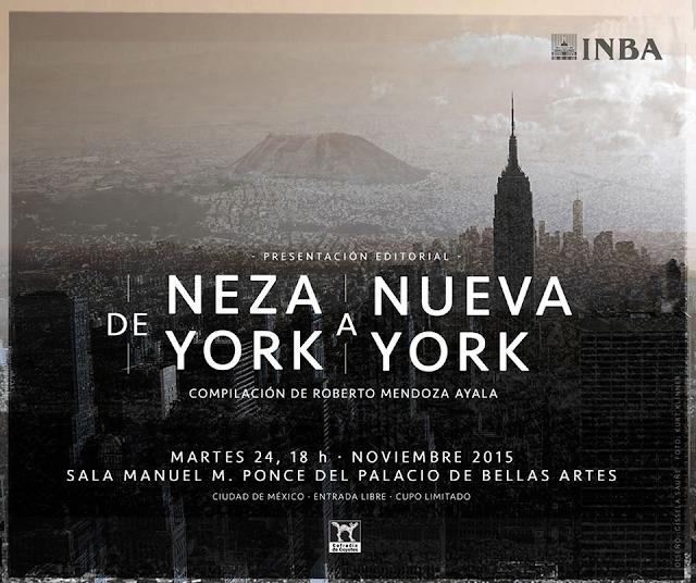 """Presentan antología de poesía """"De Neza York a Nueva York"""" en el Palacio de Bellas Artes"""