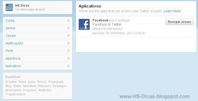 Revogando acesso dos aplicativos no Twitter
