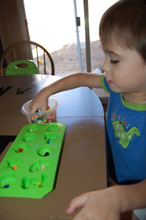 toddler sorting beads