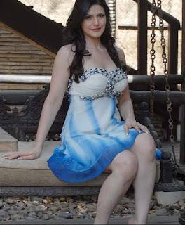 Never Seen Picture of Zareen Khan in Short Skirt